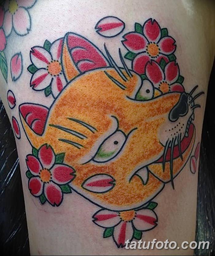 Фото рисунок тату Кицунэ от 10.08.2018 №110 - drawing of tattoo Kitsune - tatufoto.com