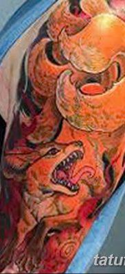 Фото рисунок тату Кицунэ от 10.08.2018 №123 – drawing of tattoo Kitsune – tatufoto.com