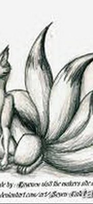 Фото рисунок тату Кицунэ от 10.08.2018 №127 – drawing of tattoo Kitsune – tatufoto.com