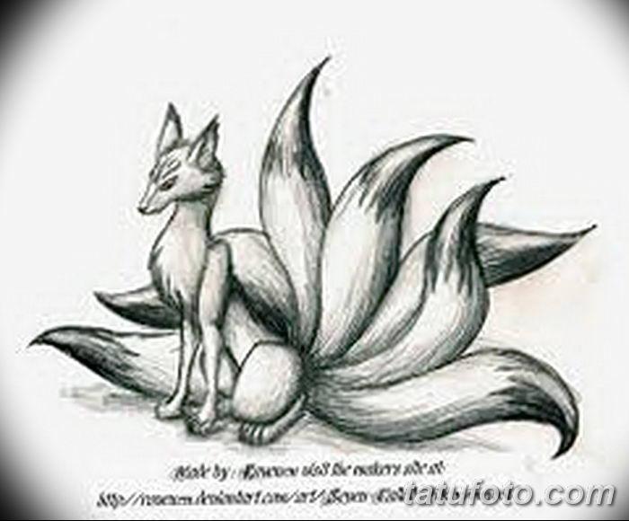 Фото рисунок тату Кицунэ от 10.08.2018 №127 - drawing of tattoo Kitsune - tatufoto.com