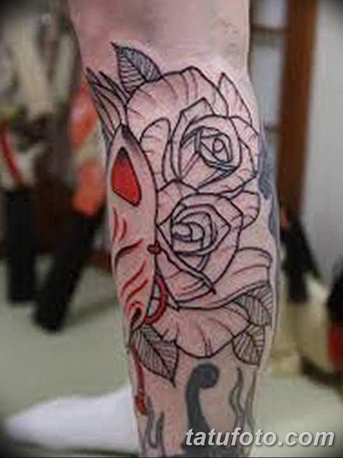 Фото рисунок тату Кицунэ от 10.08.2018 №130 - drawing of tattoo Kitsune - tatufoto.com