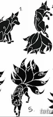 Фото рисунок тату Кицунэ от 10.08.2018 №134 – drawing of tattoo Kitsune – tatufoto.com