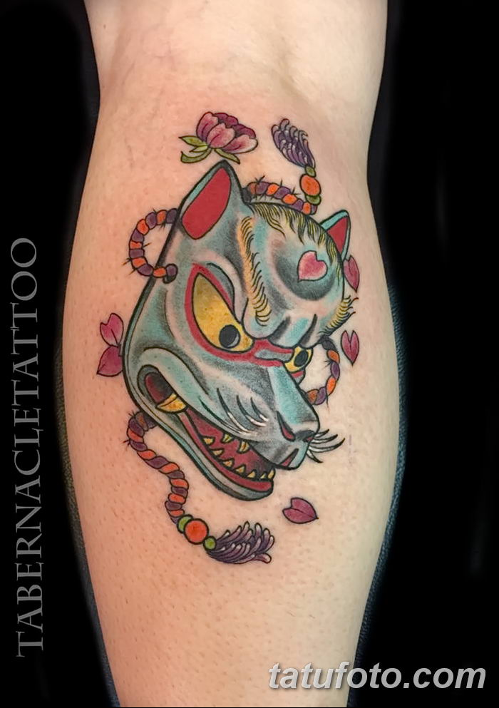 Фото рисунок тату Кицунэ от 10.08.2018 №136 - drawing of tattoo Kitsune - tatufoto.com