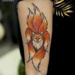 Фото рисунок тату Кицунэ от 10.08.2018 №142 - drawing of tattoo Kitsune - tatufoto.com