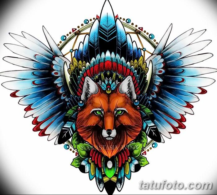 Фото рисунок тату Кицунэ от 10.08.2018 №148 - drawing of tattoo Kitsune - tatufoto.com