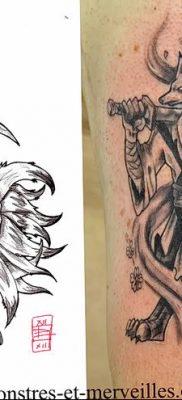 Фото рисунок тату Кицунэ от 10.08.2018 №152 – drawing of tattoo Kitsune – tatufoto.com