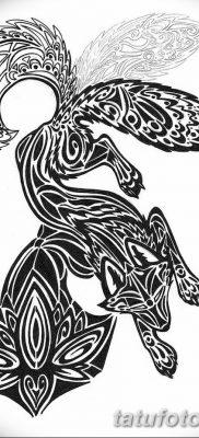 Фото рисунок тату Кицунэ от 10.08.2018 №158 – drawing of tattoo Kitsune – tatufoto.com