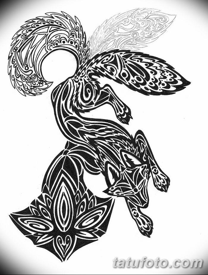 Фото рисунок тату Кицунэ от 10.08.2018 №158 - drawing of tattoo Kitsune - tatufoto.com
