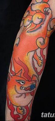 Фото рисунок тату Кицунэ от 10.08.2018 №162 – drawing of tattoo Kitsune – tatufoto.com