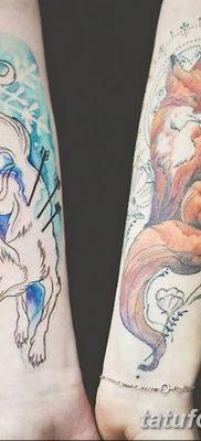 Фото рисунок тату Кицунэ от 10.08.2018 №166 – drawing of tattoo Kitsune – tatufoto.com