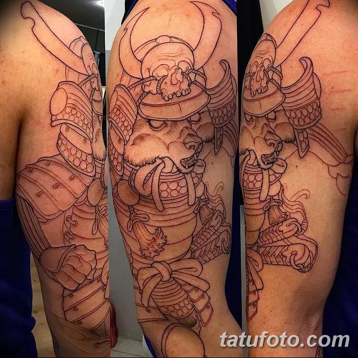 Фото рисунок тату Кицунэ от 10.08.2018 №176 - drawing of tattoo Kitsune - tatufoto.com
