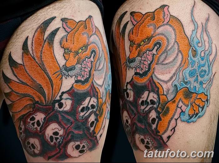 Фото рисунок тату Кицунэ от 10.08.2018 №177 - drawing of tattoo Kitsune - tatufoto.com
