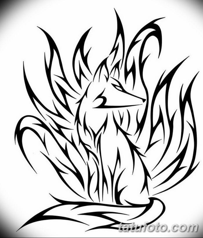 Фото рисунок тату Кицунэ от 10.08.2018 №199 - drawing of tattoo Kitsune - tatufoto.com