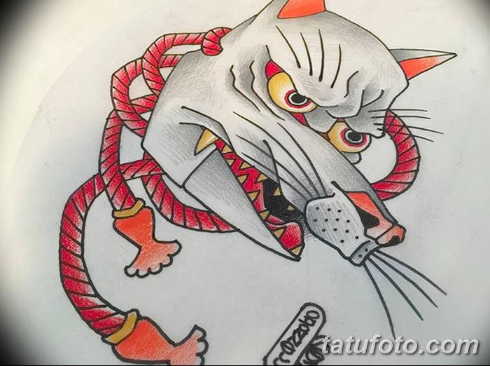 Фото рисунок тату Кицунэ от 10.08.2018 №209 - drawing of tattoo Kitsune - tatufoto.com