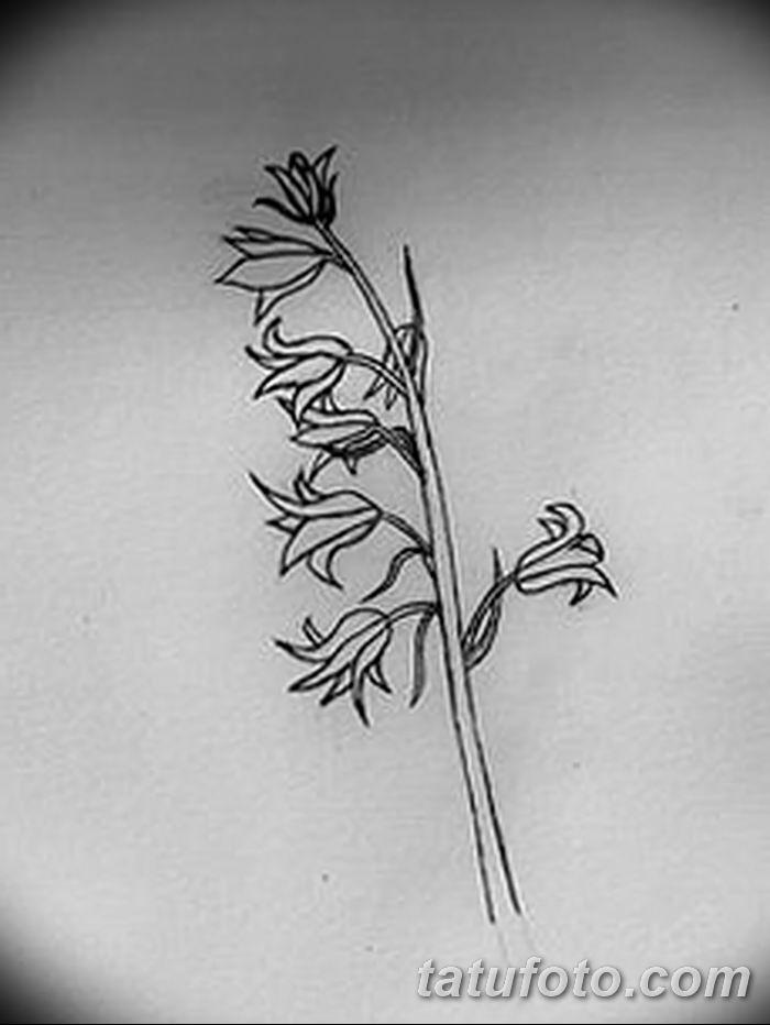 Фото рисунок тату цветок колокольчик от 10.08.2018 №003 - flower bell tatto - tatufoto.com