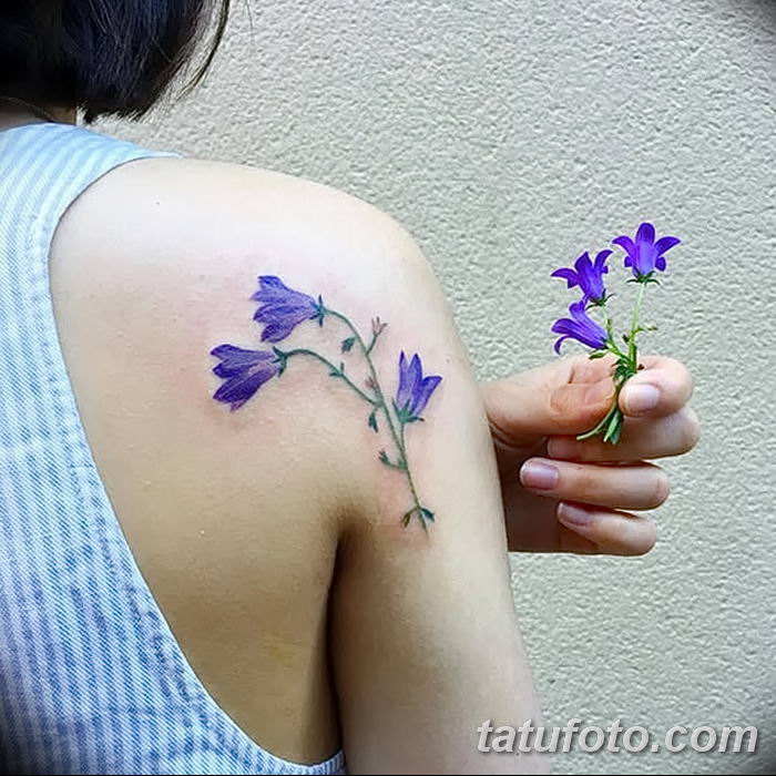 Фото рисунок тату цветок колокольчик от 10.08.2018 №004 - flower bell tatto - tatufoto.com