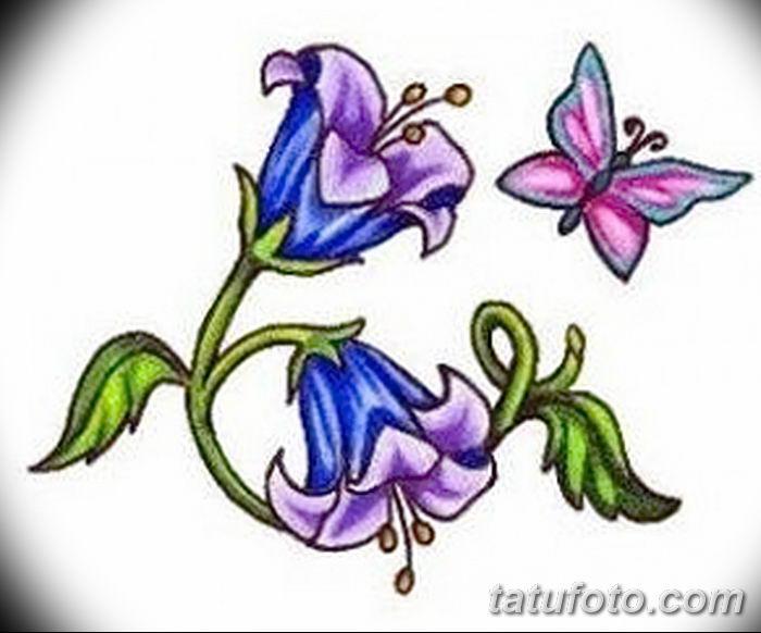 Фото рисунок тату цветок колокольчик от 10.08.2018 №007 - flower bell tatto - tatufoto.com