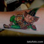 Фото тату Лепрекон от 04.08.2018 №061 - Leprechaun Tattoo - tatufoto.com