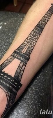 Фото тату Эйфелева башня 22.08.2018 №050 – tattoo The Eiffel Tower – tatufoto.com