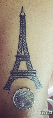 Фото тату Эйфелева башня 22.08.2018 №052 – tattoo The Eiffel Tower – tatufoto.com