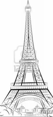 Cartoon Eiffel Tower Draw Cartoon Eiffel Tower Paris Cartoon | T
