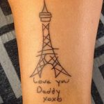 Фото тату Эйфелева башня 22.08.2018 №062 - tattoo The Eiffel Tower - tatufoto.com