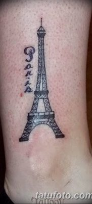 Фото тату Эйфелева башня 22.08.2018 №072 – tattoo The Eiffel Tower – tatufoto.com