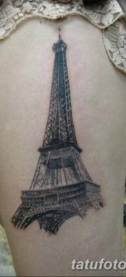 Фото тату Эйфелева башня 22.08.2018 №084 – tattoo The Eiffel Tower – tatufoto.com