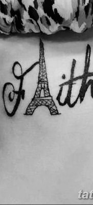 Фото тату Эйфелева башня 22.08.2018 №096 – tattoo The Eiffel Tower – tatufoto.com