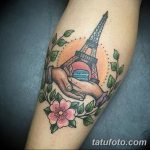 Фото тату Эйфелева башня 22.08.2018 №105 - tattoo The Eiffel Tower - tatufoto.com