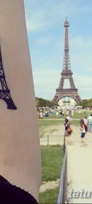 Фото тату Эйфелева башня 22.08.2018 №107 – tattoo The Eiffel Tower – tatufoto.com