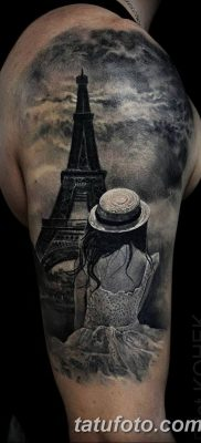 Фото тату Эйфелева башня 22.08.2018 №120 – tattoo The Eiffel Tower – tatufoto.com