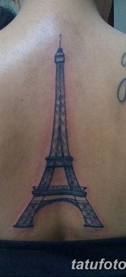 Фото тату Эйфелева башня 22.08.2018 №156 – tattoo The Eiffel Tower – tatufoto.com