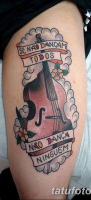 Фото тату виолончель от 04.08.2018 №004 – tattoo cello – tatufoto.com