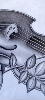 Фото тату виолончель от 04.08.2018 №005 – tattoo cello – tatufoto.com
