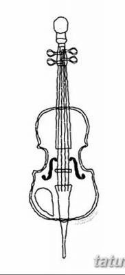 Фото тату виолончель от 04.08.2018 №007 – tattoo cello – tatufoto.com