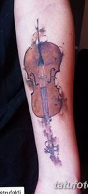 Фото тату виолончель от 04.08.2018 №011 – tattoo cello – tatufoto.com