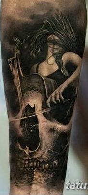Фото тату виолончель от 04.08.2018 №029 – tattoo cello – tatufoto.com