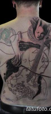 Фото тату виолончель от 04.08.2018 №031 – tattoo cello – tatufoto.com