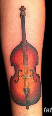 Фото тату виолончель от 04.08.2018 №034 – tattoo cello – tatufoto.com