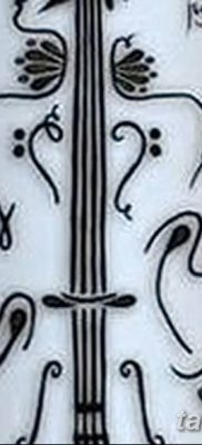 Фото тату виолончель от 04.08.2018 №035 – tattoo cello – tatufoto.com