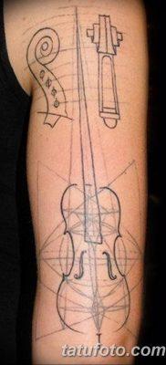 Фото тату виолончель от 04.08.2018 №045 – tattoo cello – tatufoto.com