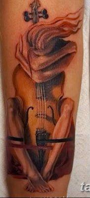 Фото тату виолончель от 04.08.2018 №047 – tattoo cello – tatufoto.com