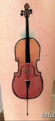 Фото тату виолончель от 04.08.2018 №048 – tattoo cello – tatufoto.com