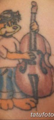Фото тату виолончель от 04.08.2018 №049 – tattoo cello – tatufoto.com