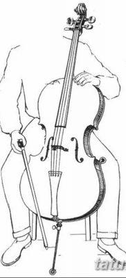 Фото тату виолончель от 04.08.2018 №052 – tattoo cello – tatufoto.com