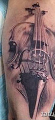 Фото тату виолончель от 04.08.2018 №070 – tattoo cello – tatufoto.com