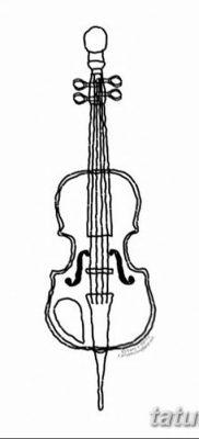 Фото тату виолончель от 04.08.2018 №075 – tattoo cello – tatufoto.com