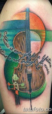 Фото тату виолончель от 04.08.2018 №079 – tattoo cello – tatufoto.com