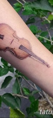 Фото тату виолончель от 04.08.2018 №080 – tattoo cello – tatufoto.com